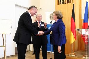 Präsident Andrej Kiska, Prof. Dr. Hans Süssmuth, Prof. Dr. Hanna Suchocka